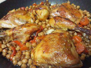 צלי עוף וגרגירי חומוס