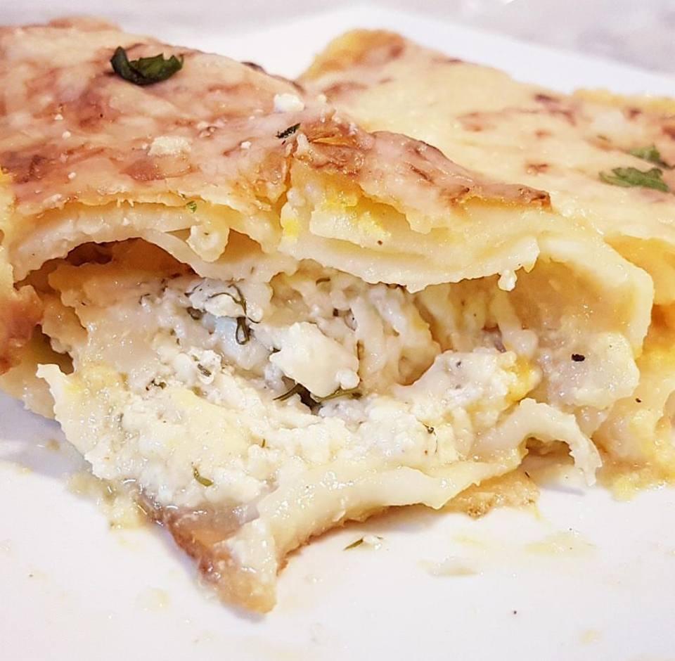 רול לזניה במילוי גבינות מוקרם בשמנת בטטה